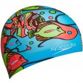 Шапочка для плавания детская Speedo Junior Slogan Cap